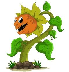 Carnivorous plant cartoon vector