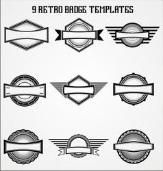 Retro badge templates vector