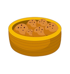 Bread on the basket vector