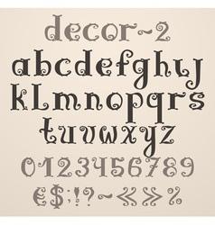 Vintage decorative english alphabet vector