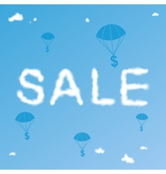 Sale cloudy background vector