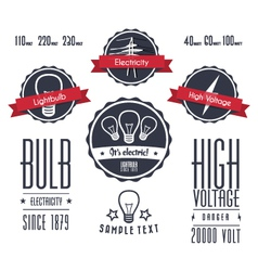 Vintage electricity labels vector
