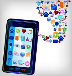 Multimedia ipad vector