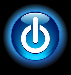 Glowing on button vector