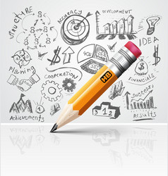 Creative pencil idea vector