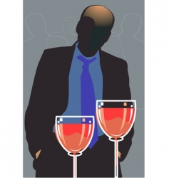 Party and wine vector