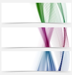 Line stripe colorful web banner collection vector