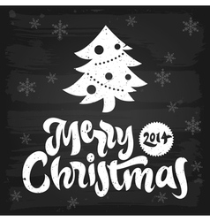 Merry christmas greetings chalkboard vector