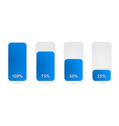 Statistic graph with blue color vector
