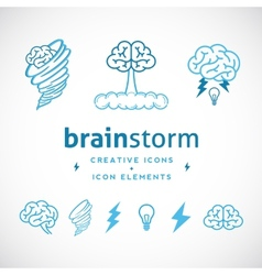 Brainstorm abstract creative logo template vector
