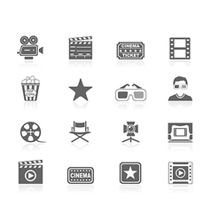 Black icons - cinema vector