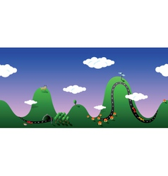 Cartoon hills vector