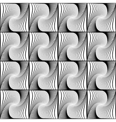 Design seamless wave geometric pattern vector