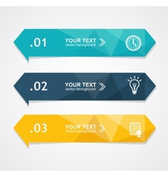 Colorful text boxes trendy colors vector