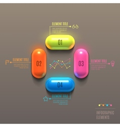 Business infographics capsule concept vector