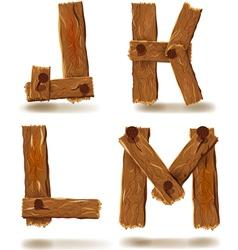 Wooden j k l m vector