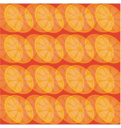 Lemon slices on red background vector