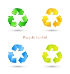 Colorful set of recycle signs vector