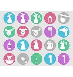 Dog grooming icons set vector