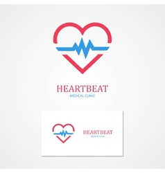 Combination of a heart and pulse with business vector