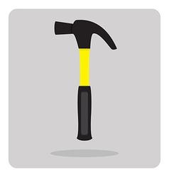 Flat icon hammer vector