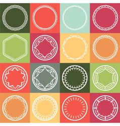 Outline frames vector