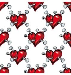 Bleeding hearts seamless pattern vector