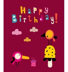 Happy birthday card 8 vector