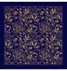Ornamental paisley pattern design for pocket vector