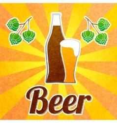 Beer bottle poster vector