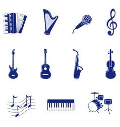 Musical icon vector