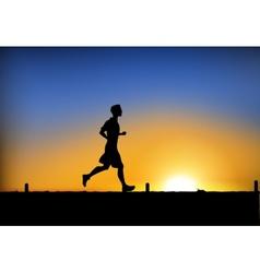 Jogging man vector