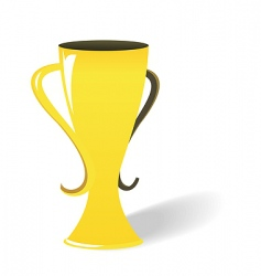 Prize gold cup vector