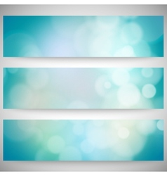 Blurry backgrounds set with bokeh effect abstract vector