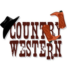 Country western banner vector