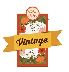 Retro and vintage label design vector