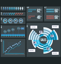 8 business infographic elements vector