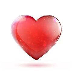 Glossy heart vector