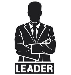 Leader-successful businessman vector