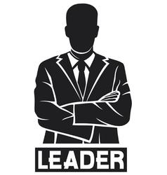 Leader-successful businessman vector