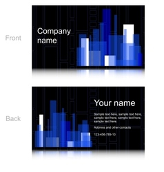 Black and blue business card vector