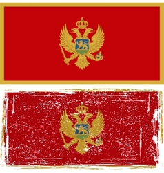 Montenegro grunge flag  grunge effect can be vector