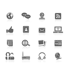 Black icons - communication vector