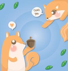 Couple squirrel vector