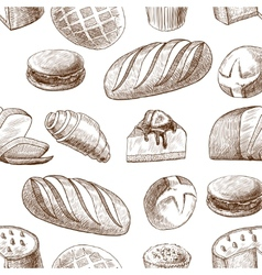 Pastry seamless pattern vector
