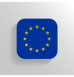 Button - europe flag icon vector