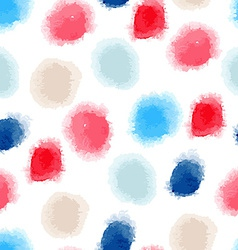 Seamless watercolor dots background vector
