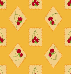Cute cherry seamless pattern vector