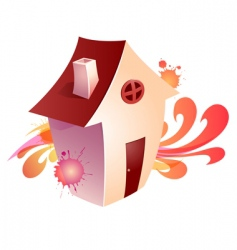 Beautiful cottage vector