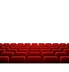Row of seats in theatre vector